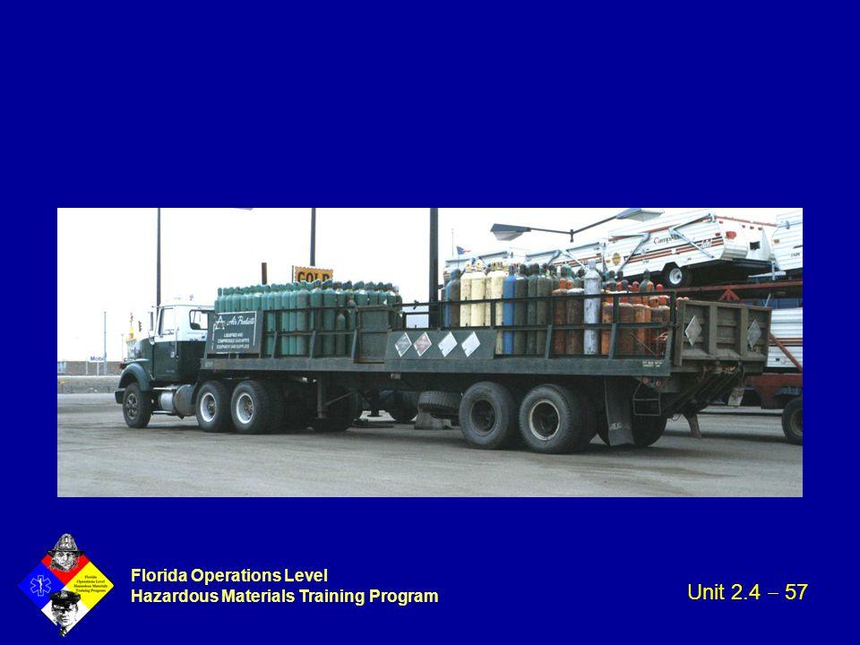 Florida Operations Level Hazardous Materials Training Program Unit 2.4  57