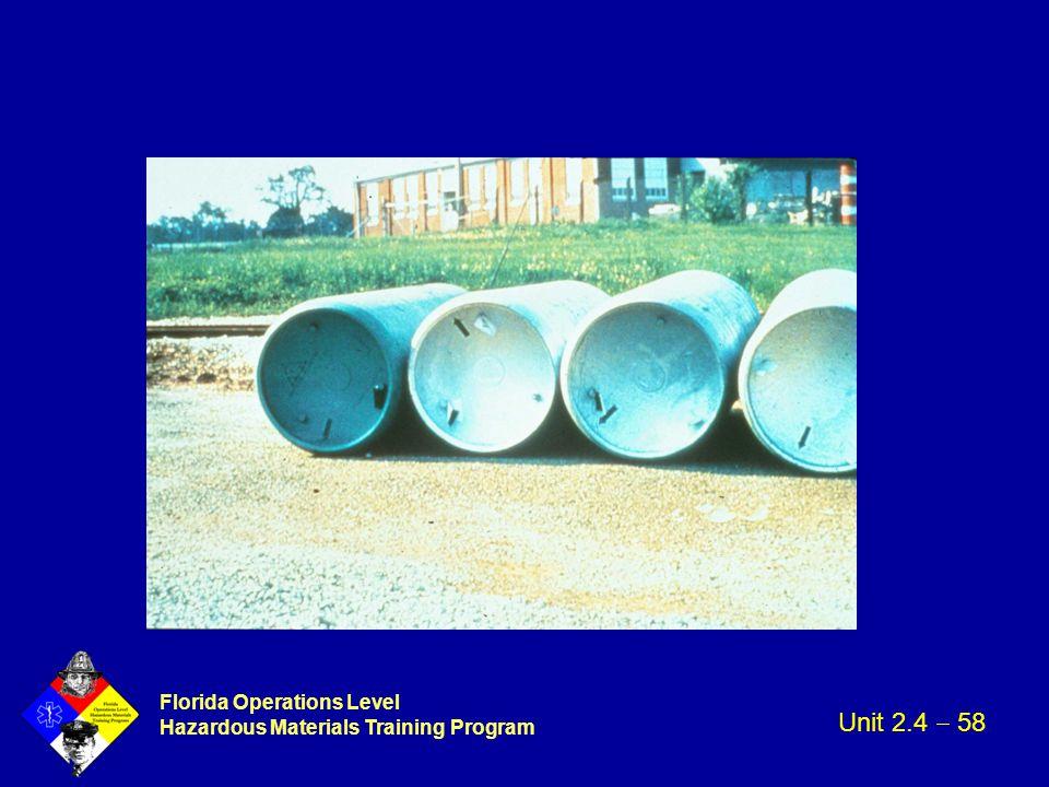 Florida Operations Level Hazardous Materials Training Program Unit 2.4  58