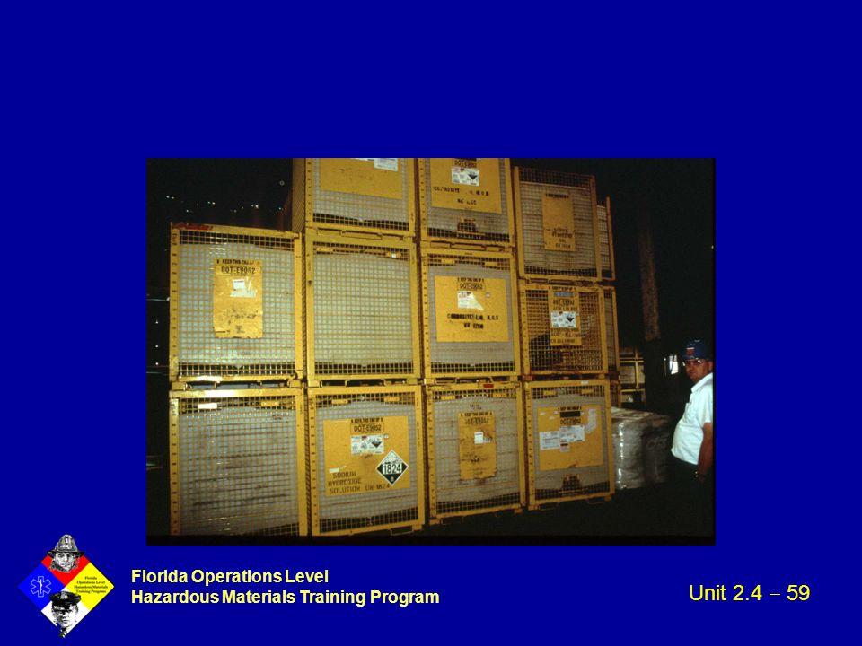 Florida Operations Level Hazardous Materials Training Program Unit 2.4  59