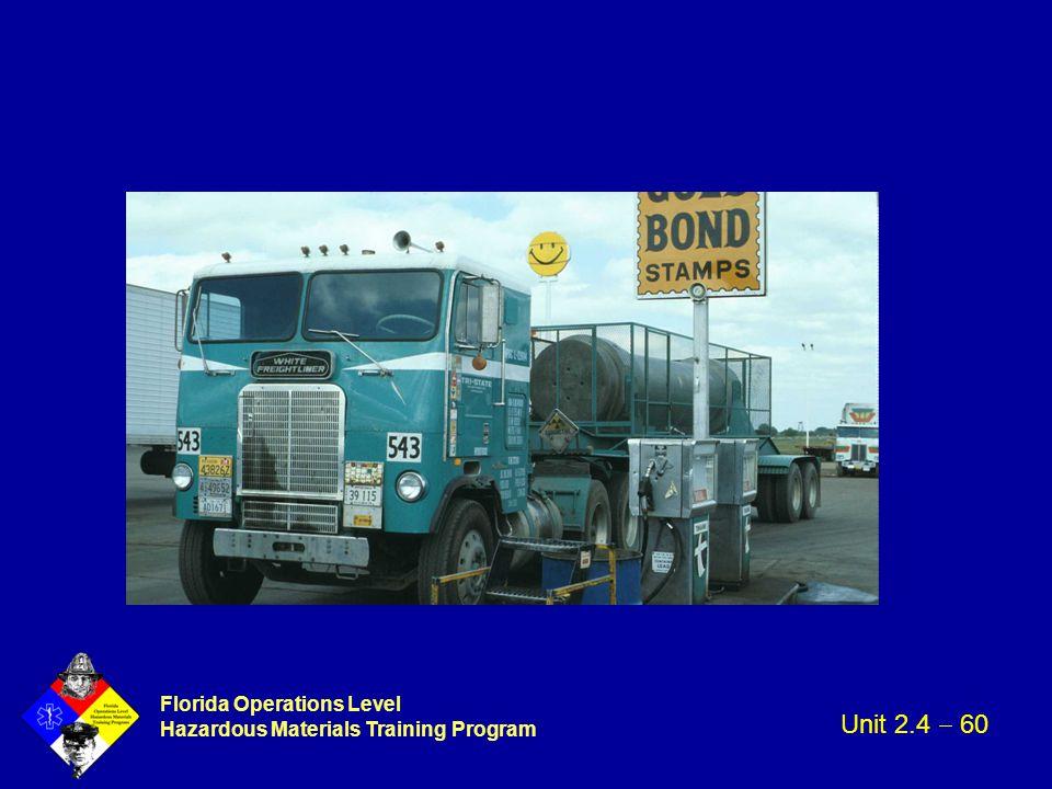Florida Operations Level Hazardous Materials Training Program Unit 2.4  60