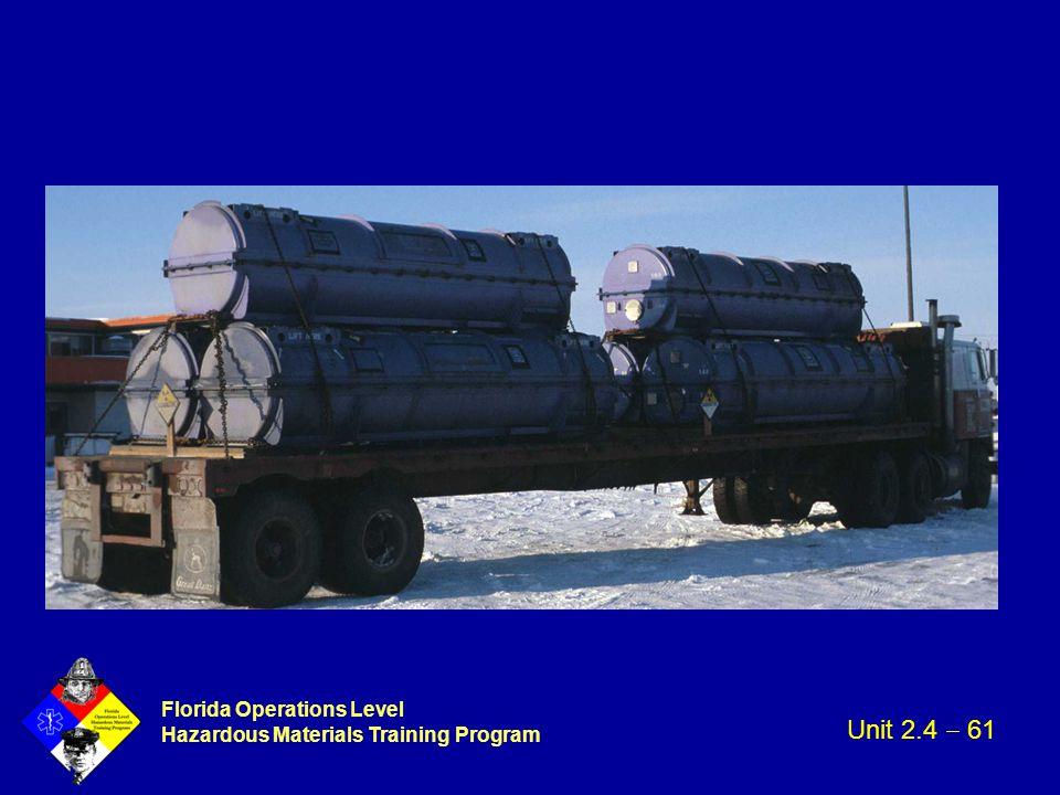 Florida Operations Level Hazardous Materials Training Program Unit 2.4  61