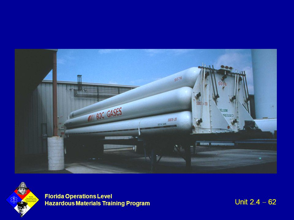 Florida Operations Level Hazardous Materials Training Program Unit 2.4  62