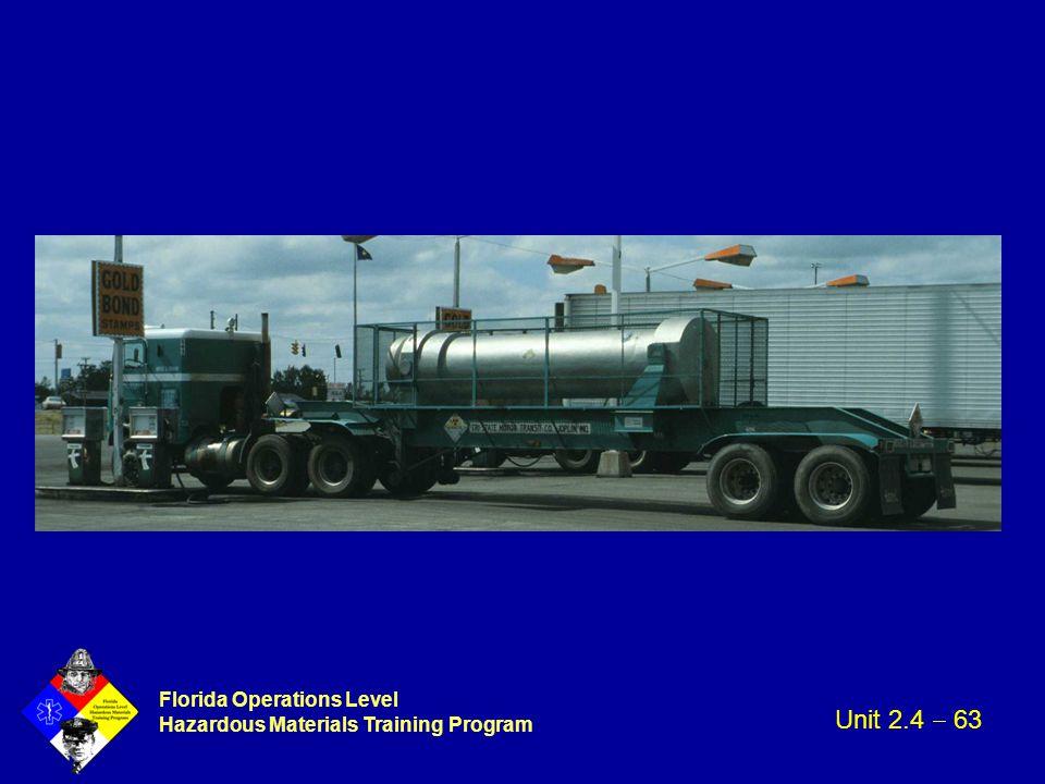 Florida Operations Level Hazardous Materials Training Program Unit 2.4  63