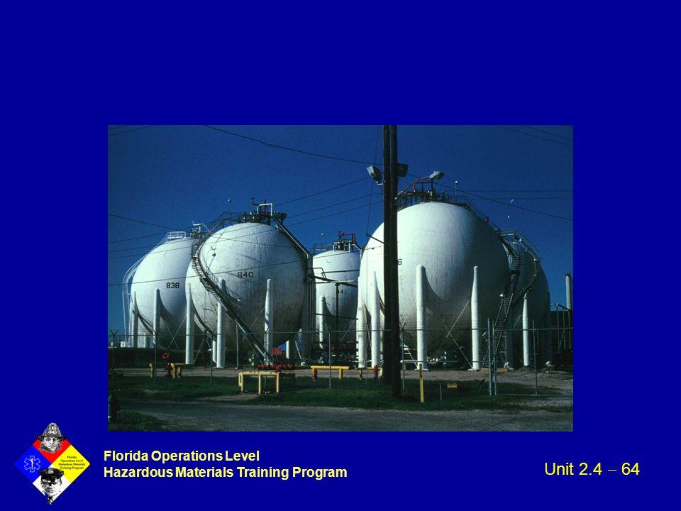 Florida Operations Level Hazardous Materials Training Program Unit 2.4  64