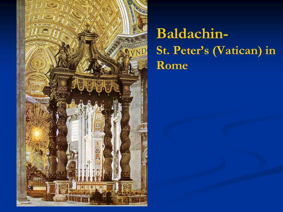 Baldachin- St. Peter's (Vatican) in Rome