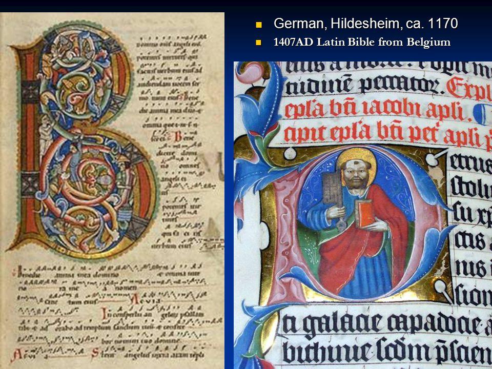 German, Hildesheim, ca. 1170 1407AD Latin Bible from Belgium