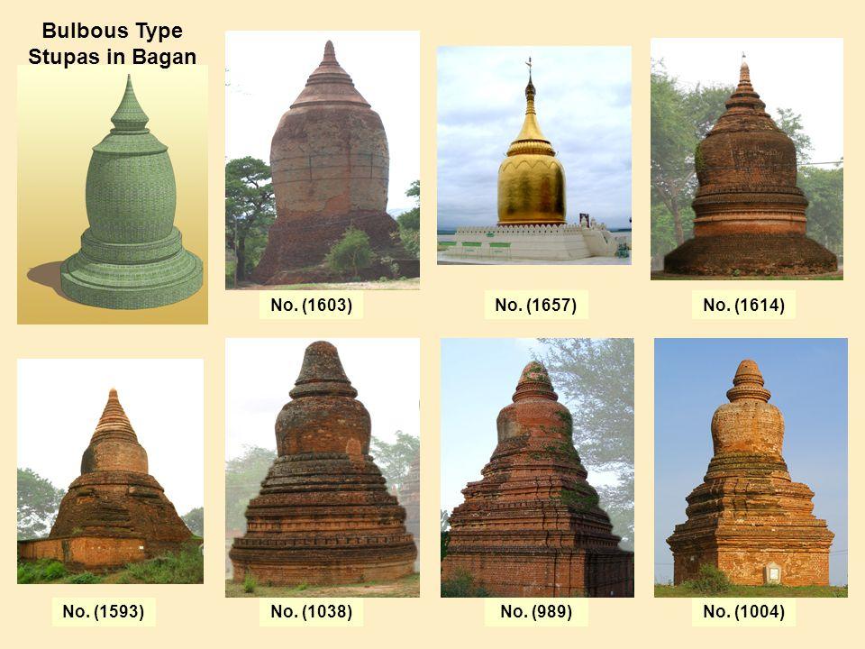 Bulbous Type Stupas in Bagan No. (1603)No. (1657)No. (1614) No. (1038)No. (989)No. (1004)No. (1593)