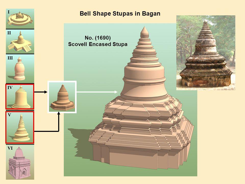 Bell Shape Stupas in Bagan No. (1690) Scovell Encased Stupa