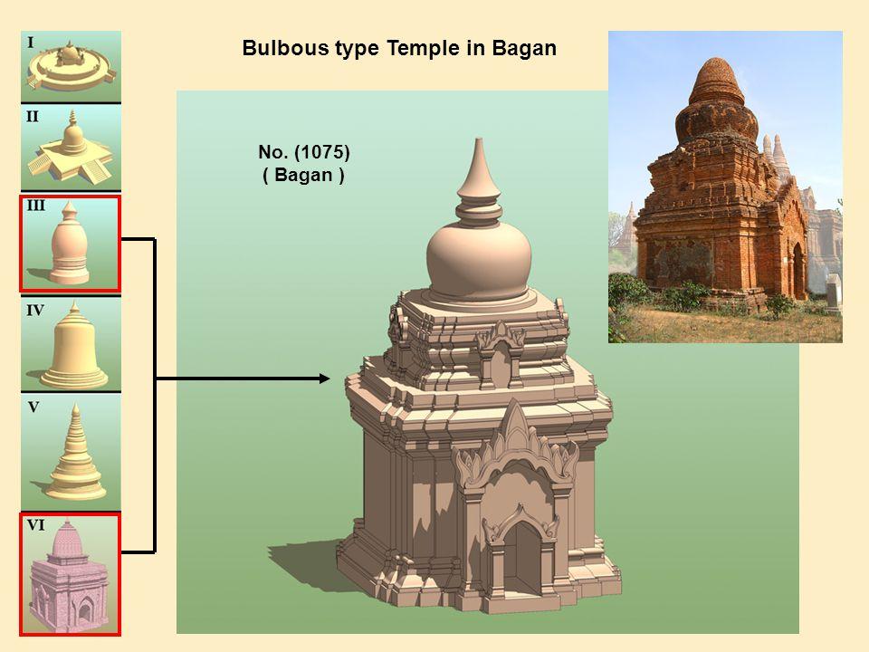 Bulbous type Temple in Bagan No. (1075) ( Bagan )