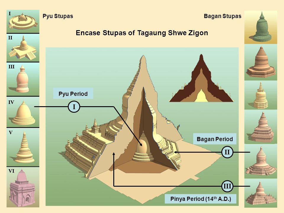 Encase Stupas of Tagaung Shwe Zigon III III Pyu StupasBagan Stupas Pyu Period Bagan Period Pinya Period (14 th A.D.)