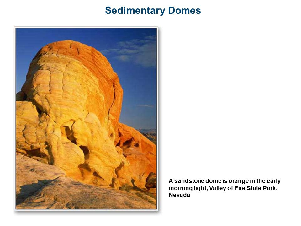 Sedimentary Domes A sandstone dome is orange in the early morning light, Valley of Fire State Park, Nevada