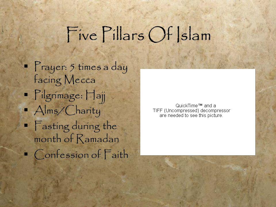 Islam  Mosque  Minarets, Muezzin  Imams  Religious day: Friday