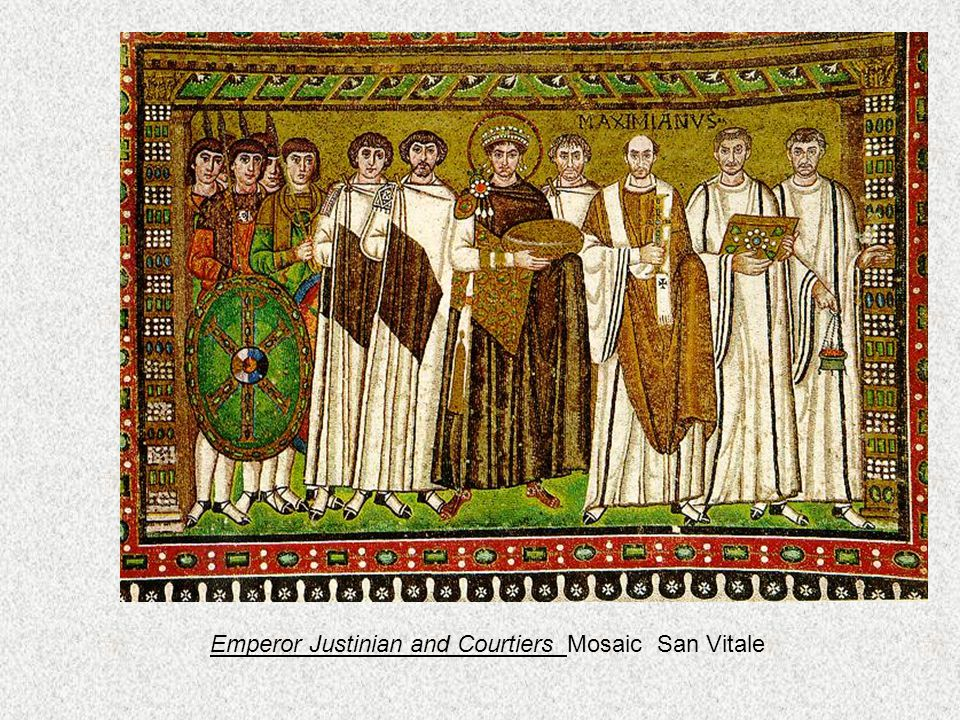 Empress Theodora and Retinue mosaic San Vitale 547c.e.