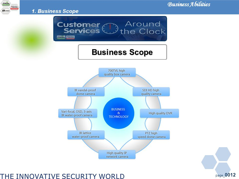 page_ 0012 Business Scope 1. Business Scope Business Abilities