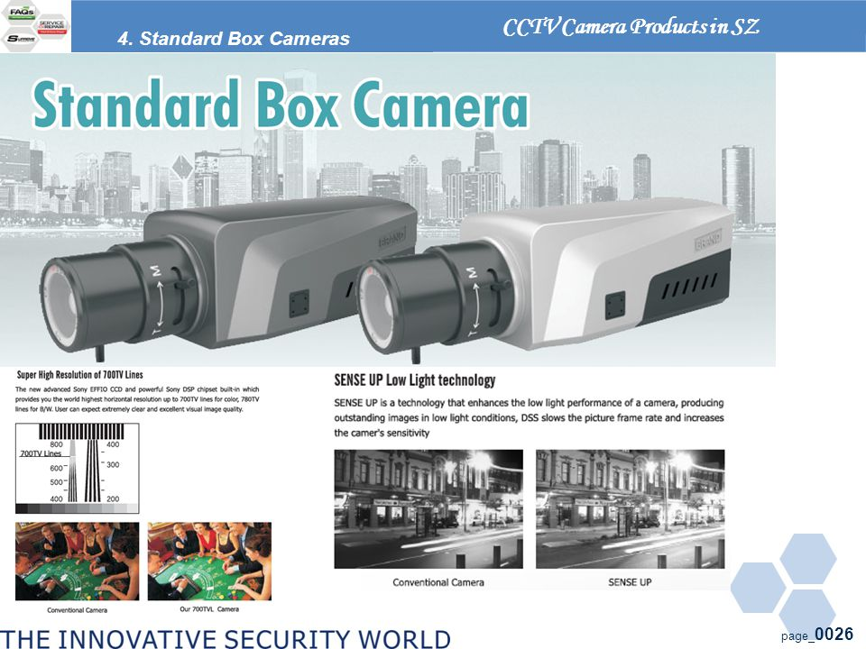 page_ 0026 CCTV Camera Products in SZ 4. Standard Box Cameras