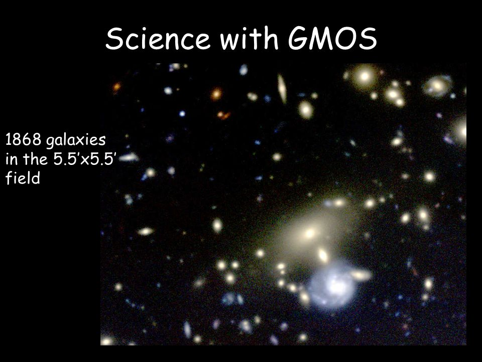 Science with GMOS 1868 galaxies in the 5.5'x5.5' field