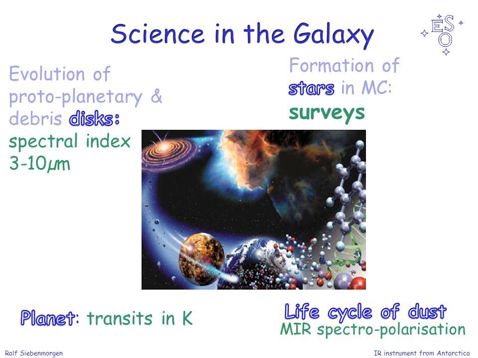 Ralf Siebenmorgen IR instrument from Antarctica MIR spectro-polarisation