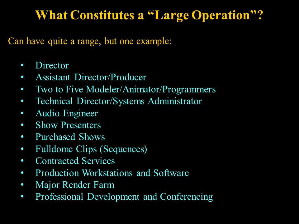 What Constitutes a Large Operation .