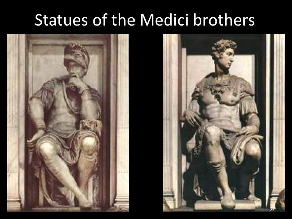 Statues of the Medici brothers 37