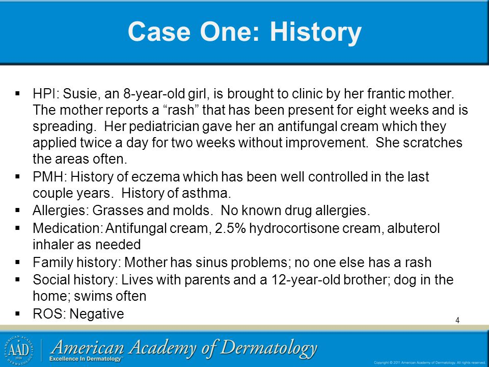 Case One: Question 8  As you pause to consider the potential treatment, you review the facts that contributed to Susie having molluscum.