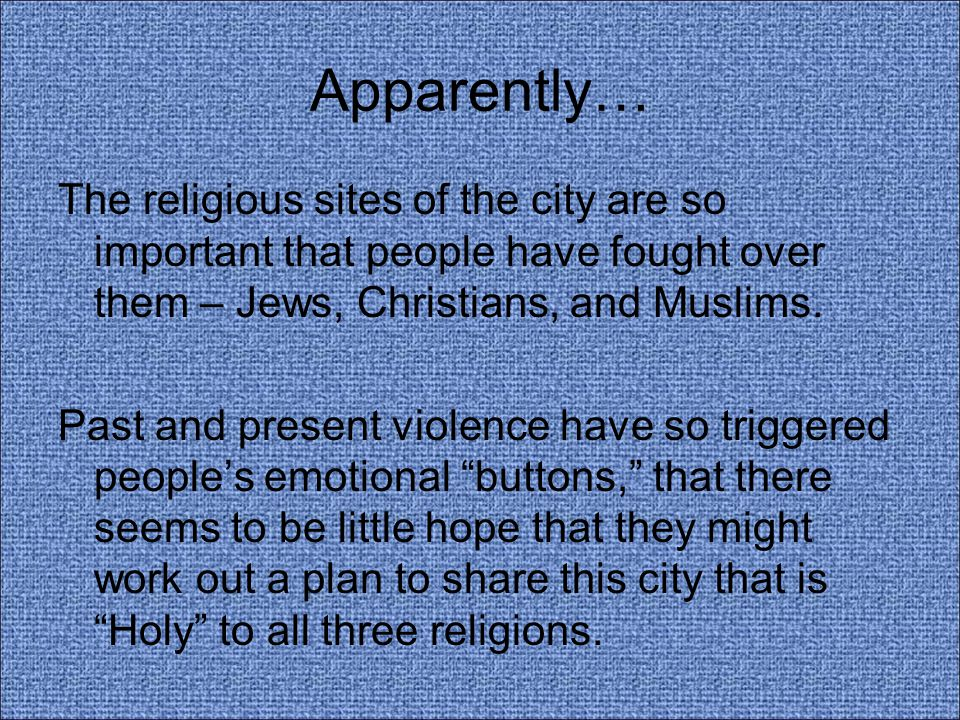The irony of who these religions worship.
