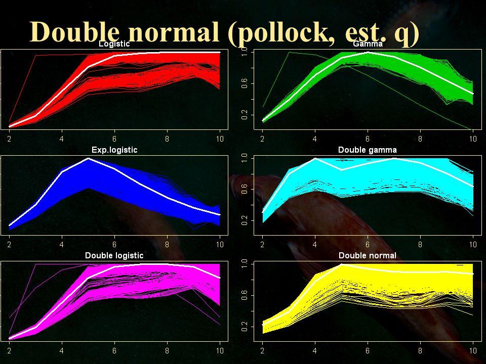 Double normal (pollock, est. q)