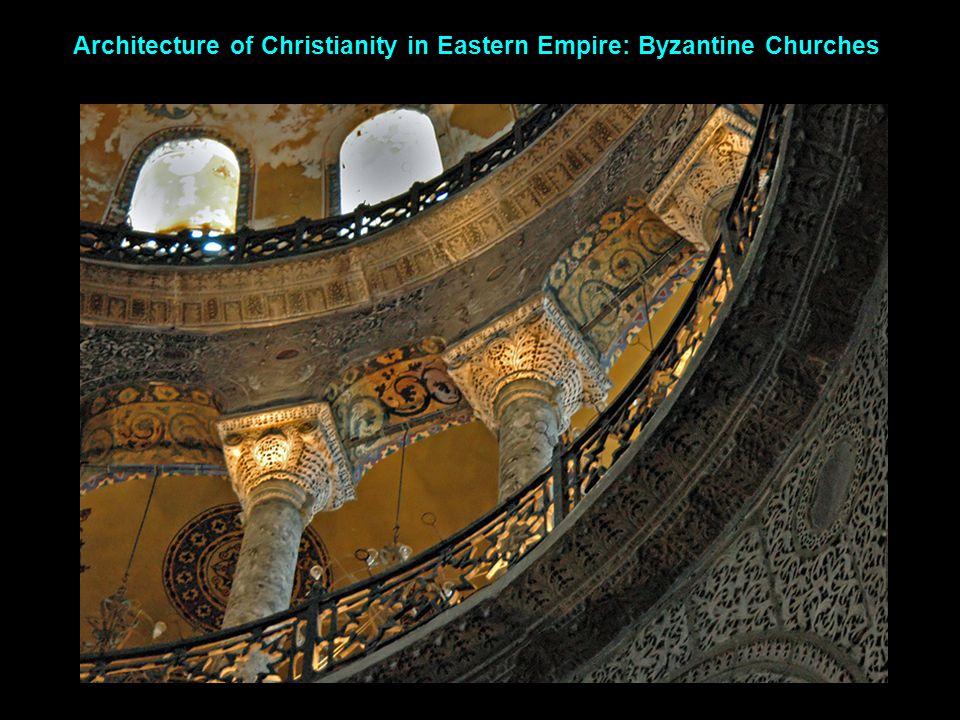 Hagia Sophia Roman round arch Byzantine stilted arch III.