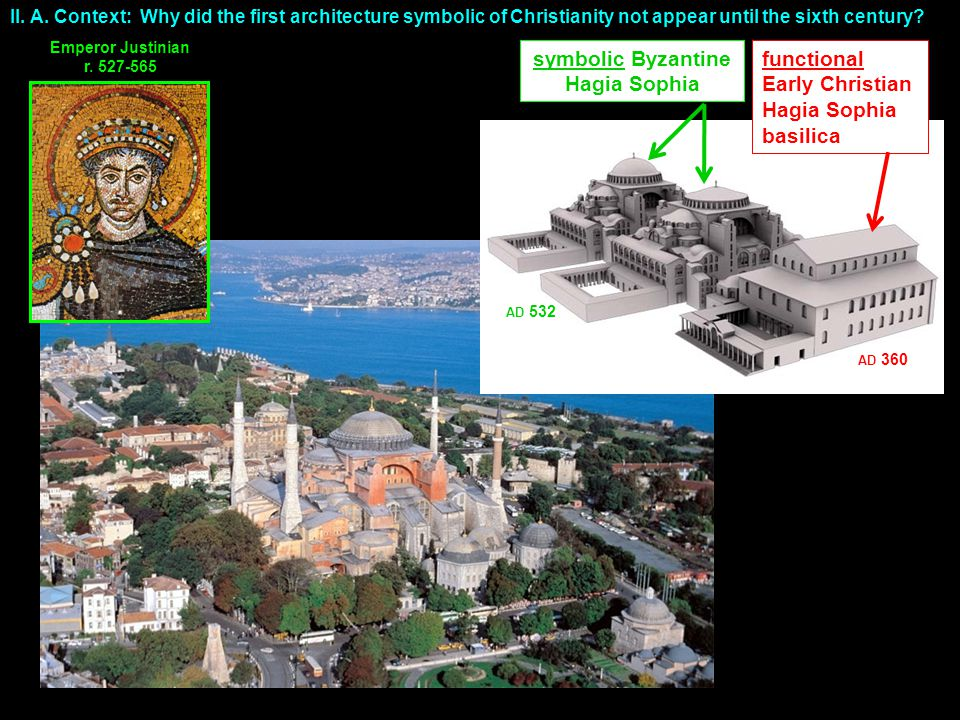 functional Early Christian Hagia Sophia basilica symbolic Byzantine Hagia Sophia Emperor Justinian r.