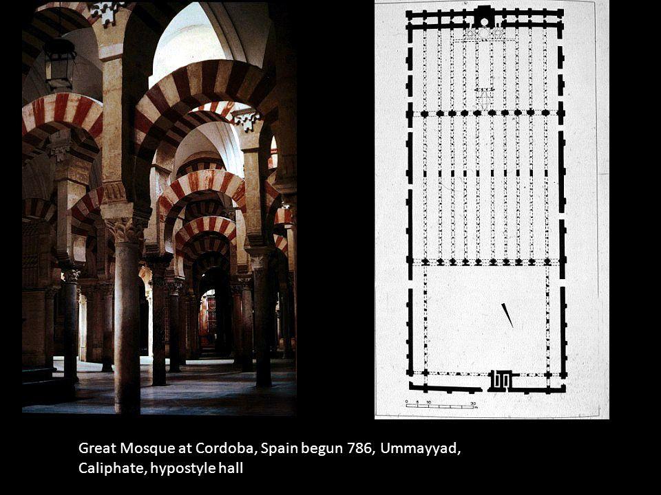 Great Mosque at Cordoba, Spain begun 786, Ummayyad, Caliphate, hypostyle hall