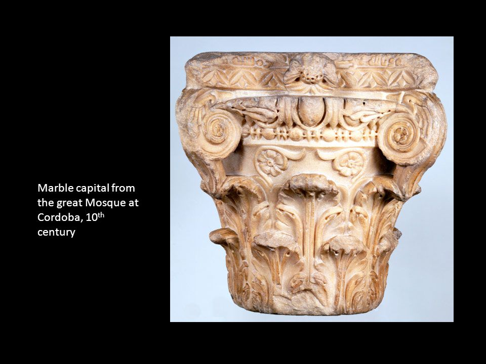 Marble capital from the great Mosque at Cordoba, 10 th century