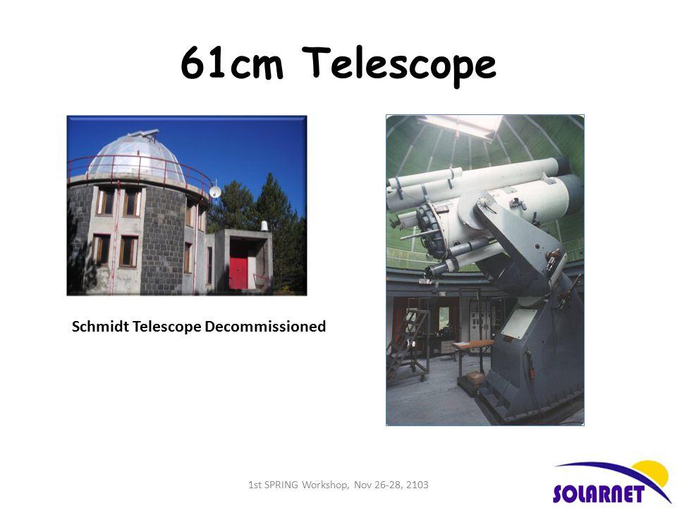 61cm Telescope Schmidt Telescope Decommissioned 1st SPRING Workshop, Nov 26-28, 2103