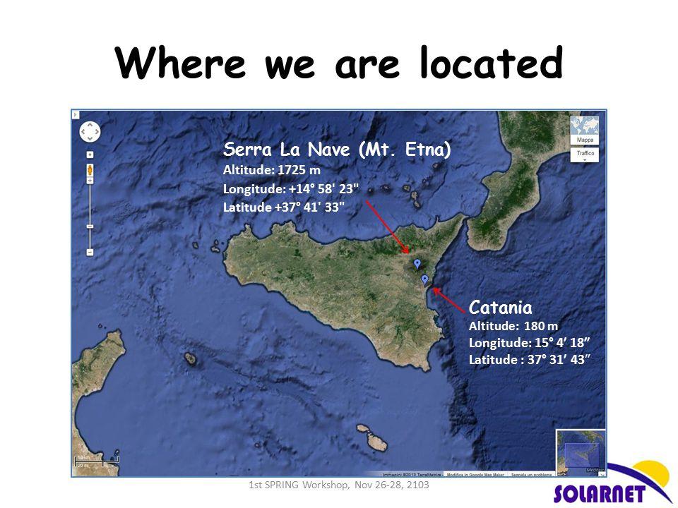 Where we are located Serra La Nave (Mt.
