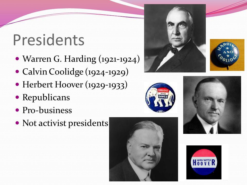 Presidents Warren G.