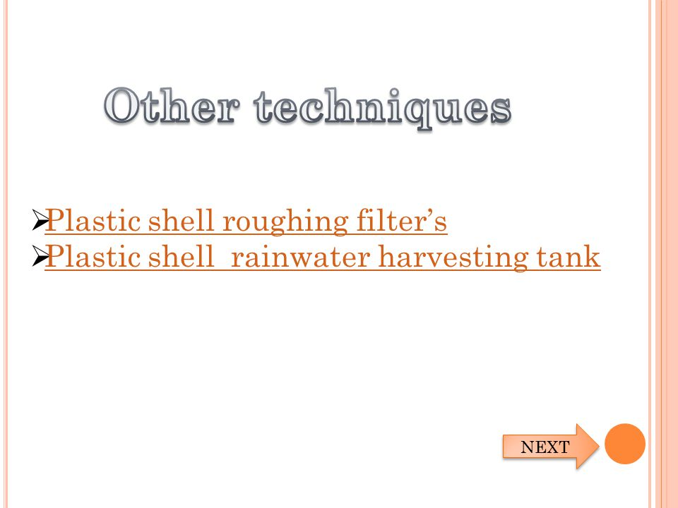  Plastic shell roughing filter's Plastic shell roughing filter's  Plastic shell rainwater harvesting tank Plastic shell rainwater harvesting tank NE