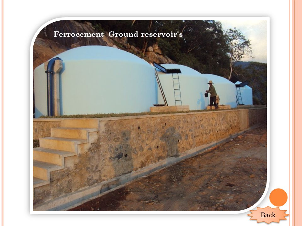 Ferrocement Ground reservoir's Back