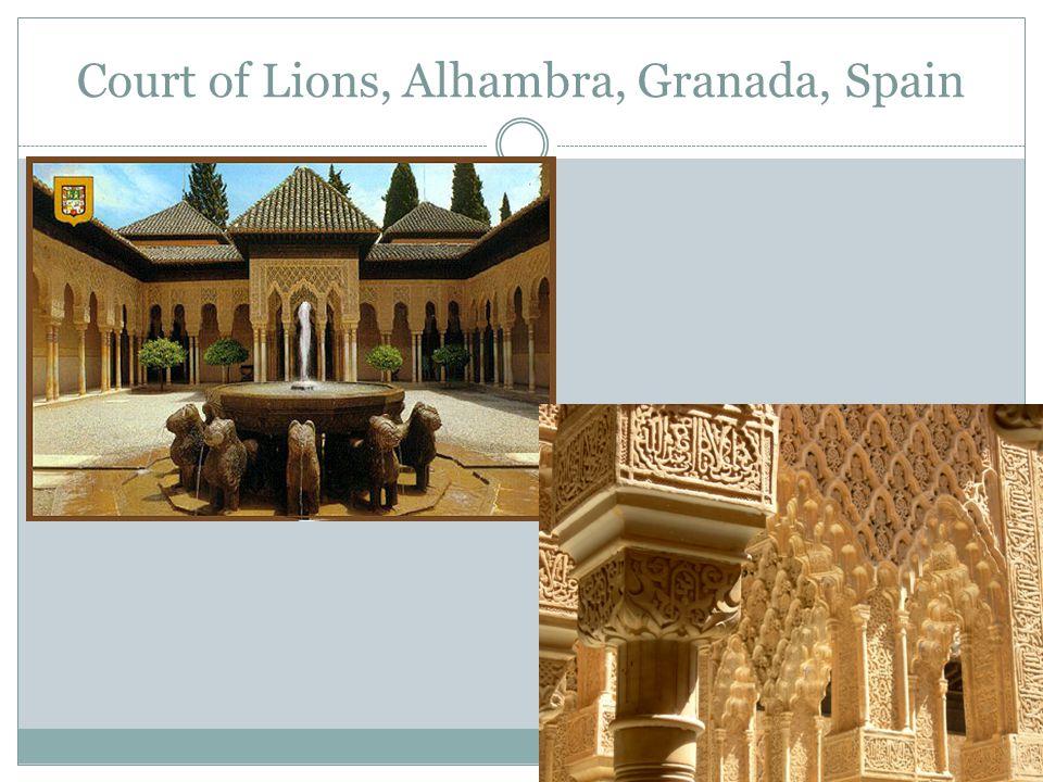 Court of Lions, Alhambra, Granada, Spain