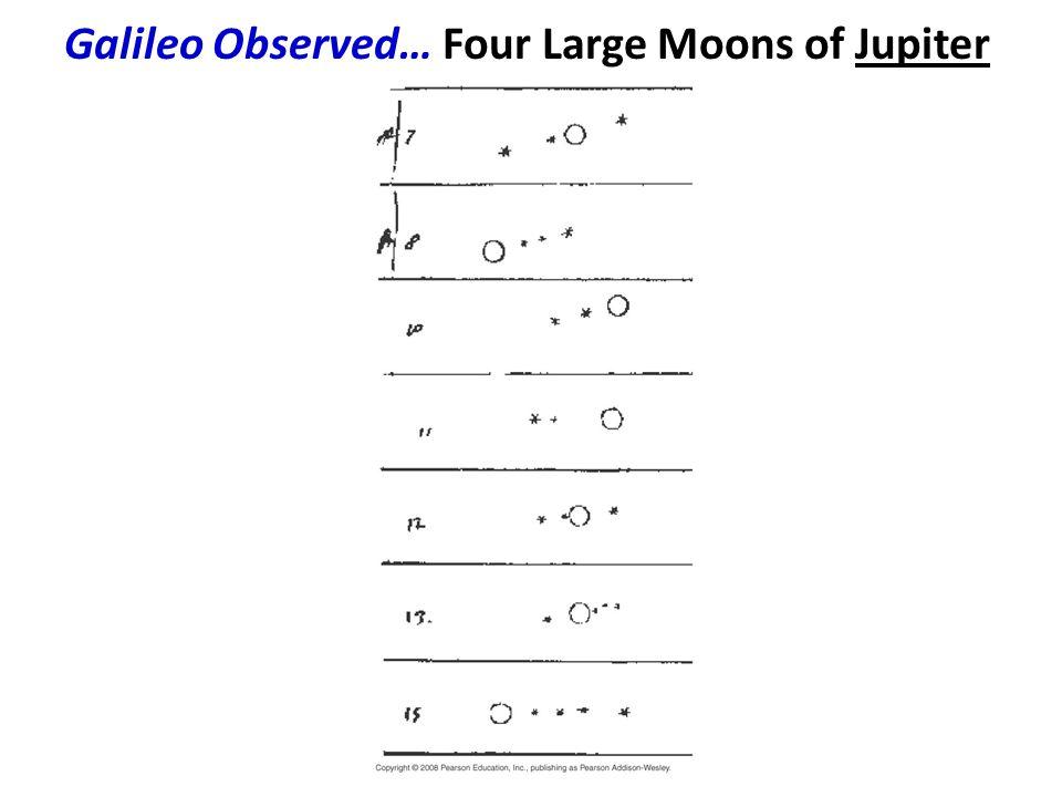 Galileo Observed… Four Large Moons of Jupiter