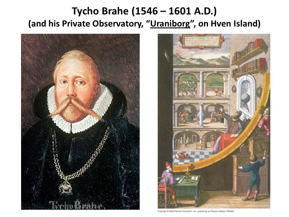"Tycho Brahe (1546 – 1601 A.D.) (and his Private Observatory, ""Uraniborg"", on Hven Island)"