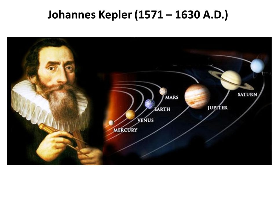 Johannes Kepler (1571 – 1630 A.D.)