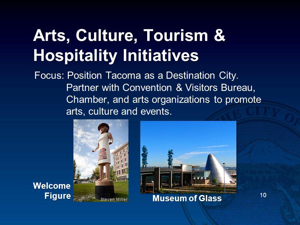 Arts, Culture, Tourism & Hospitality Initiatives Focus: Position Tacoma as a Destination City.