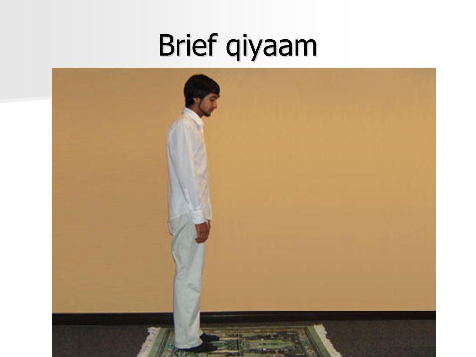 Brief qiyaam