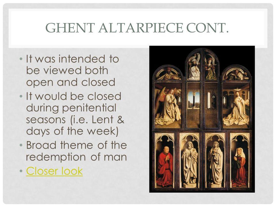 GHENT ALTARPIECE CONT.