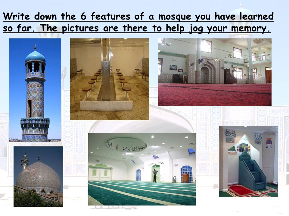 It is normal for modern mosques to have separate facilities for women.