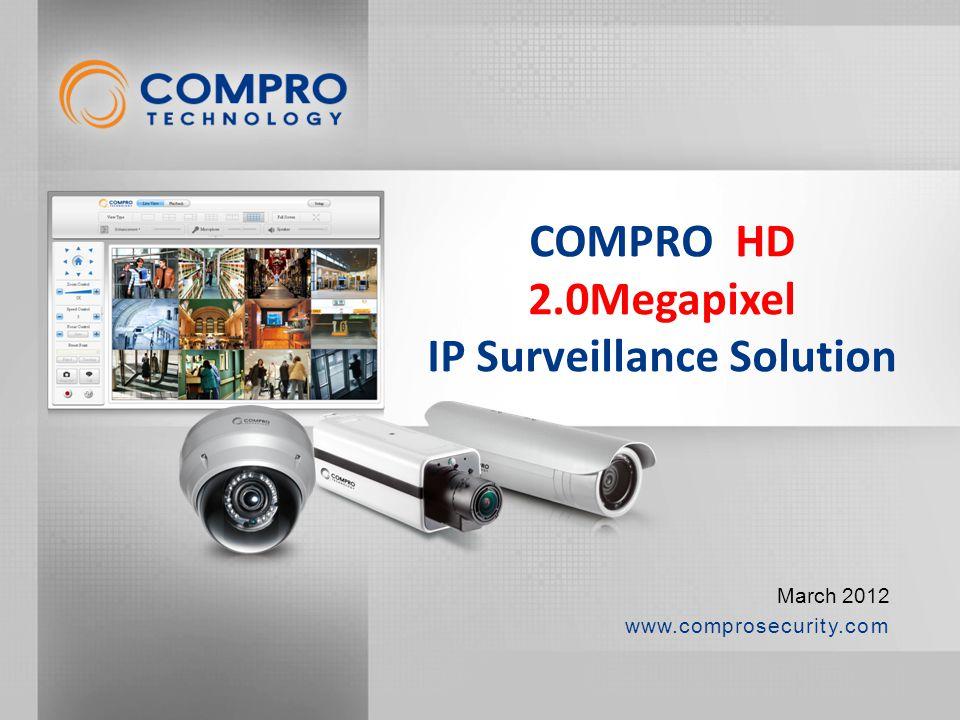 www.comprosecurity.com March 2012 COMPRO HD 2.0Megapixel IP Surveillance Solution
