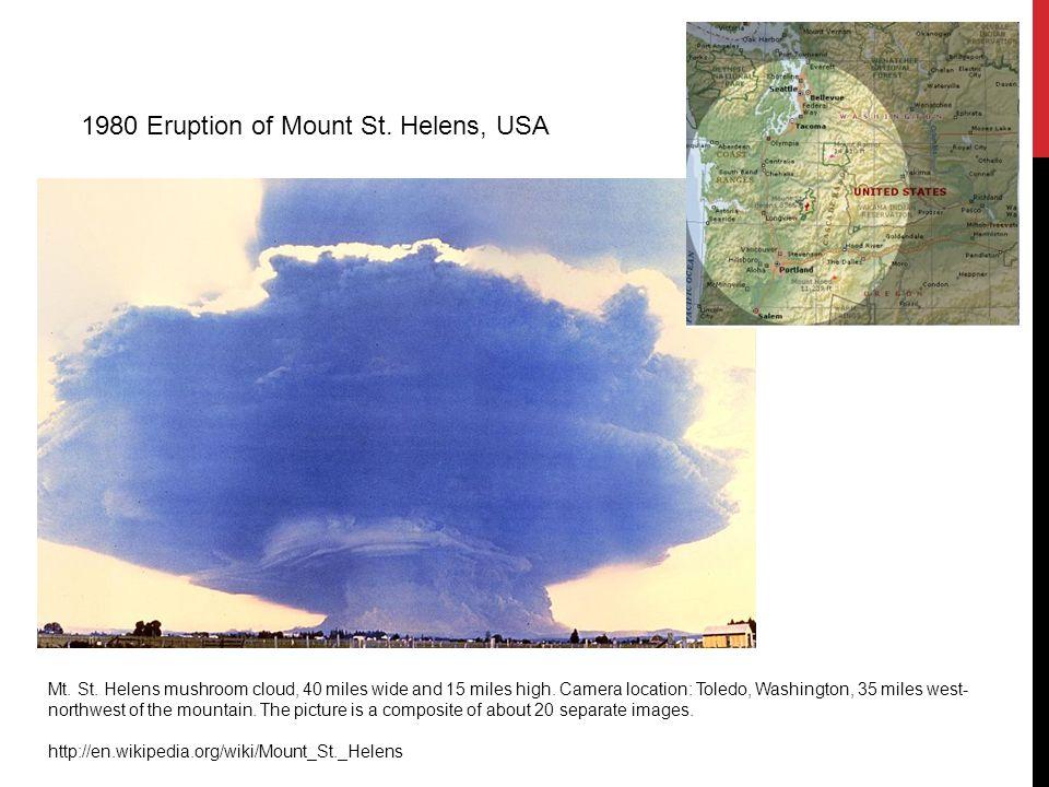 1980 Eruption of Mount St. Helens, USA Mt. St.