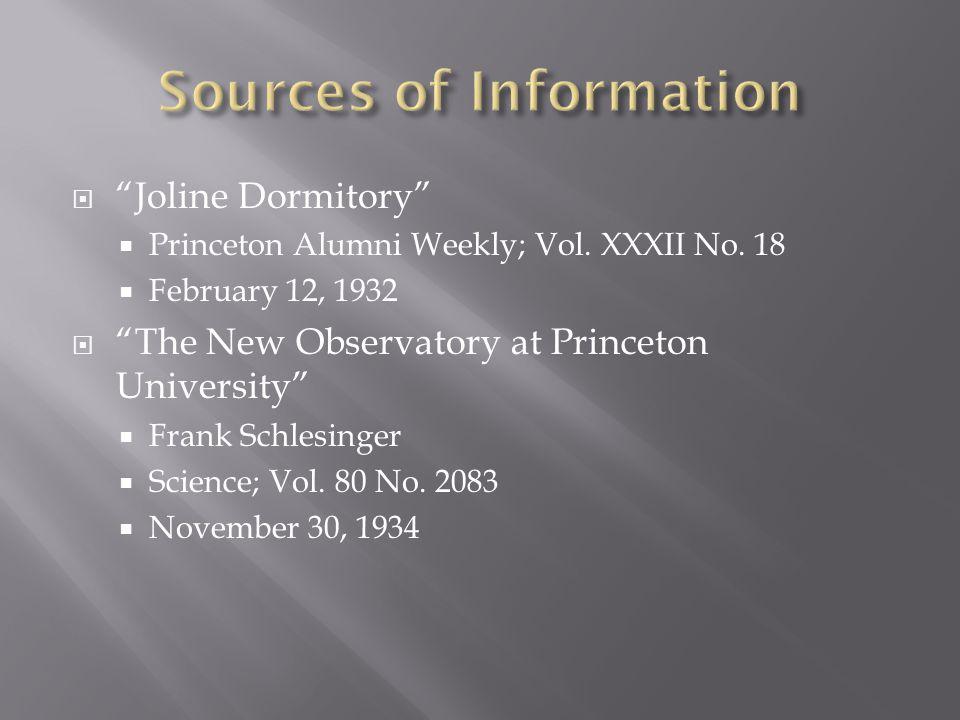  Joline Dormitory  Princeton Alumni Weekly; Vol.
