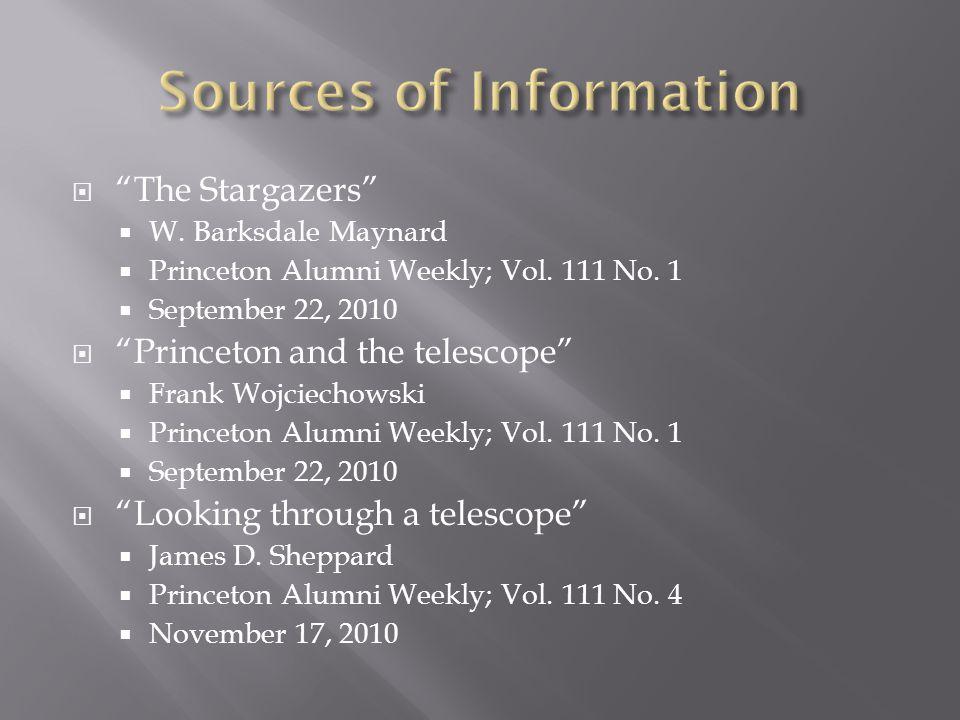  The Stargazers  W. Barksdale Maynard  Princeton Alumni Weekly; Vol.