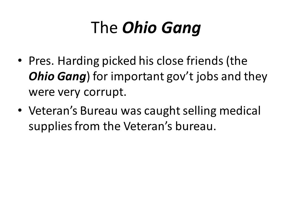 The Ohio Gang Pres.