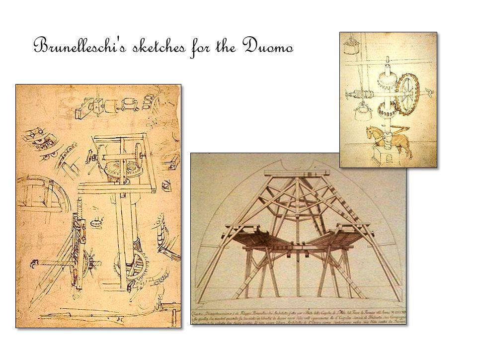 Brunelleschi's sketches for the Duomo