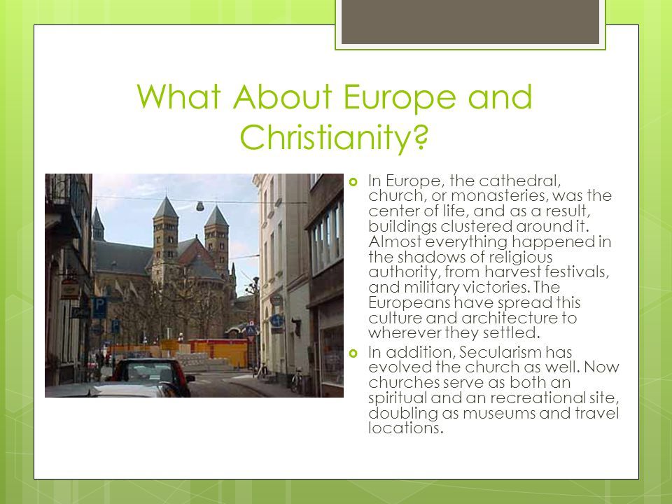 What About Europe and Christianity.